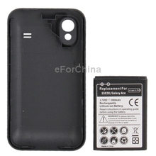 High Quality 3500mAh Replacement Mobile Phone Battery with Case Back Door for Samsung S5830/Galaxy Ace Batery Bateria