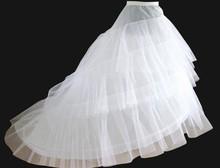 Good Price And Quality Wedding Gown Train Crinoline Underskirt 3-Layers Petticoat For Wedding Dress Wedding Underskirt(China (Mainland))