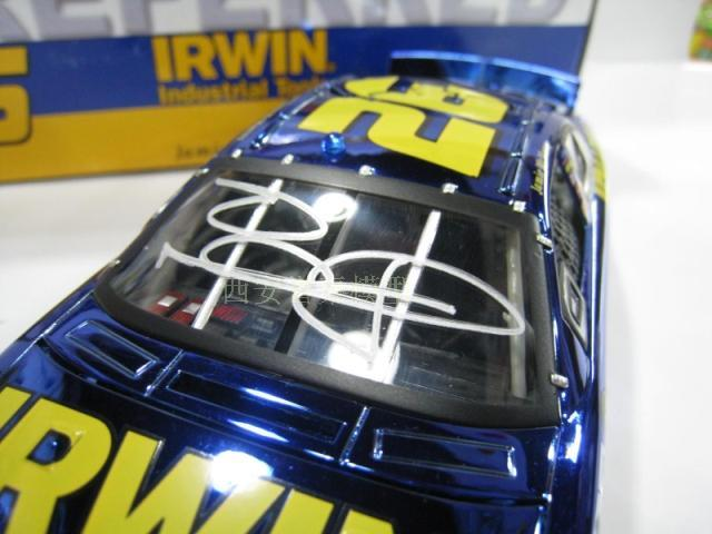 NASCAR 1/24 can be opened with the blue NASCAR plating before and after shock boutique driver autograph(China (Mainland))