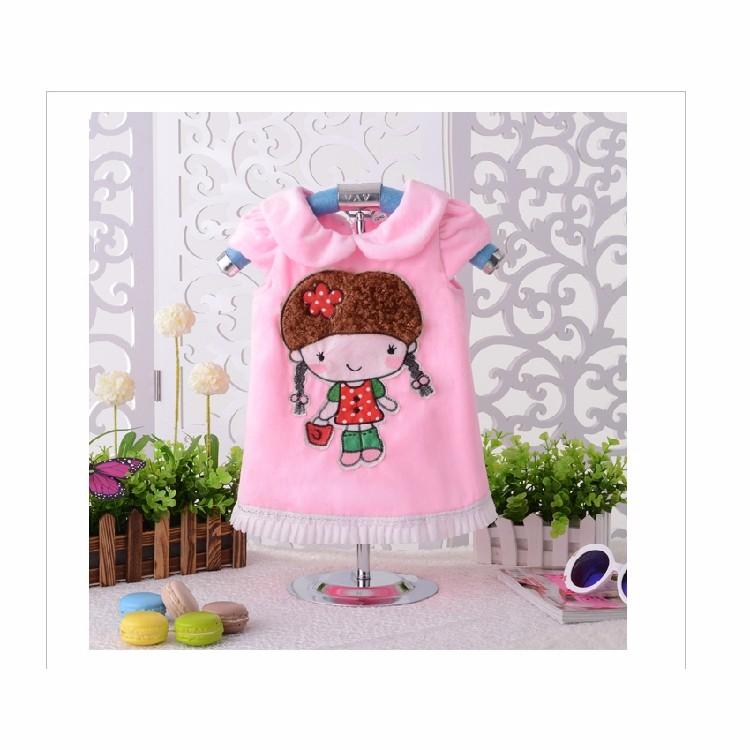 Скидки на Новый Год детская одежда ребенок бархат утолщение жилет 1-2-3 плюс толстый бархат платье принцессы