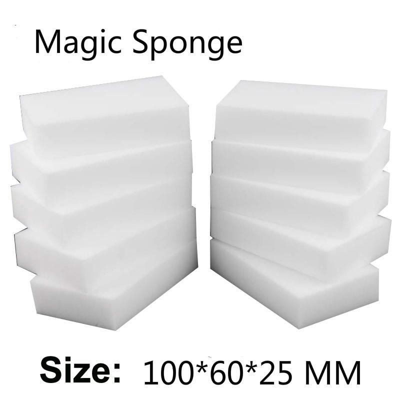100 pcs 10*6*2.5 cm White melamine sponge dish washing,magic nano sponge eraser for cleaning just with water Free shipping-49(China (Mainland))