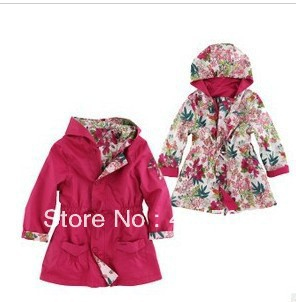 Children Outerwear & Coats Girls Jackets 2 Sides Wear Hooded Windbreaker Kids Jacket 2015 Autumn Winter Coat - Online Store 438470 store