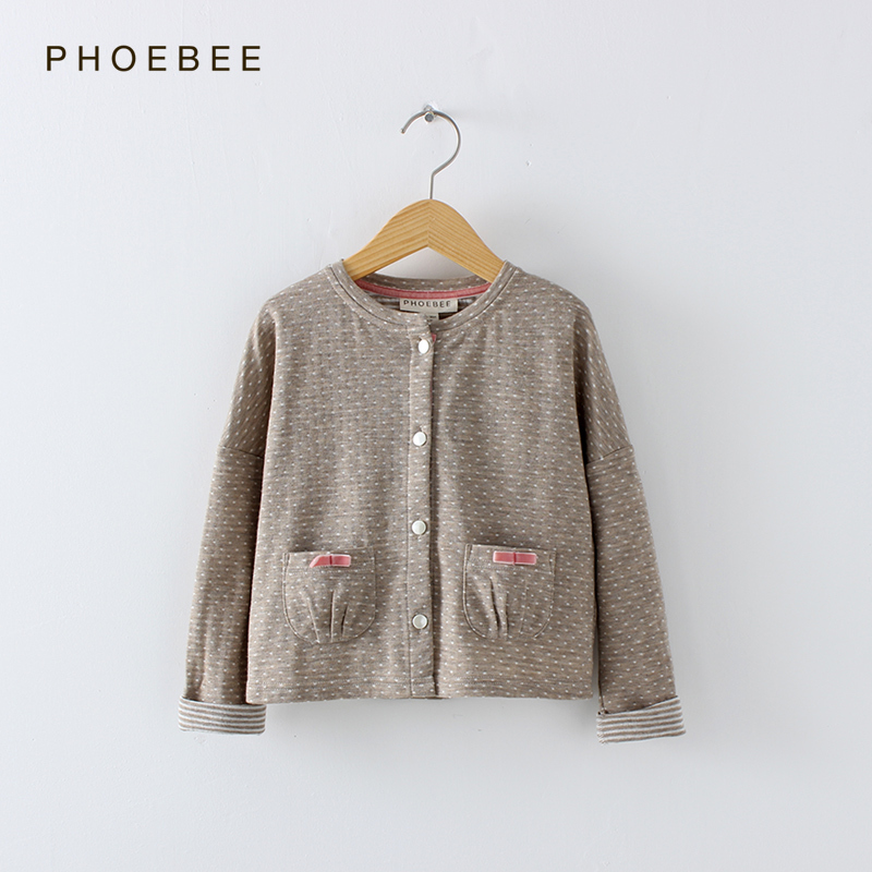 2-8 years Sweatshirts for girls clothes girl cardigans sweater Autumn Winter sweaters coats cotton Polyester Apricot  CO12002