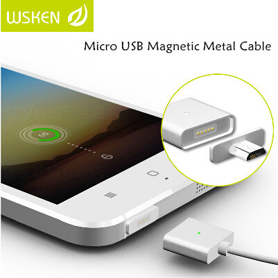 Original WSKEN Universal Metal Magnetic Micro USB Data Charger Cable For Android Phone Samsung Xiaomi Meizu Huawei HTC Google(China (Mainland))