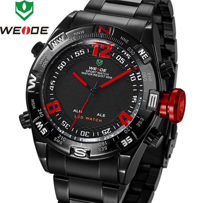 Relogio Masculino 2016 Sport watches Men Full Steel Watch Clock Casual Army Military Quartz Led Dress Brand Digit Wristwatches - Shenzhen Bosebay Watch&Clock Co., Ltd store