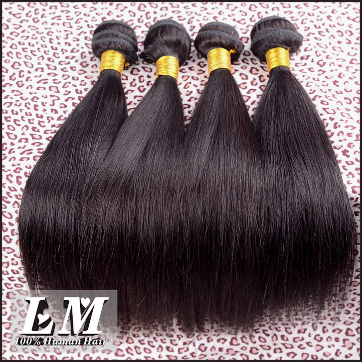 "Rosa Hair Product Indian Virgin Hair Straight 8""-30"" Indian Remy Hair Weave 3pcs/lot Human Hair Extension, No shedding & tangle(China (Mainland))"