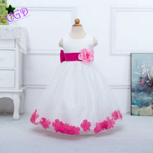 New 2016 flower girl Dress Kids Clothing baby girls Clothes Princess Party Dresses Summer Children Wear NOVA Fashion Toddler Q28