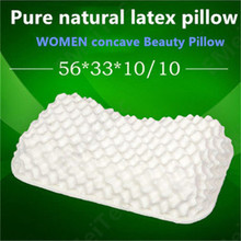 Natural latex pillow neck bonded repair cervical Child Adult Student Protection cervical health memory pillow natural rubber(China (Mainland))