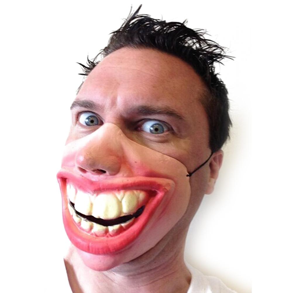 Big Teeth Latex Mask for Movie Fancy Dress Hallowee Masquerade Party Horror Creepy Elastic Band Half Face Masks Funny Costume(China (Mainland))