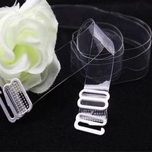 2pcs Clear bra strap silicone bra straps Invisible Transparent & frested straps Transparent Invisible Underwear Shoulder Strap(China (Mainland))