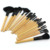 Wholesale Price! 24pcs 24 pcs Cosmetic Facial Make up Brushes Kit Makeup Brush Tools Set + Black Leather Case,Free Shipping