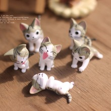 Small Ornament Landscape Mini Cats Micro Models For Garden Ornaments 6 Cats For Potted Home Bonsai Decor Gardening Tools(China (Mainland))