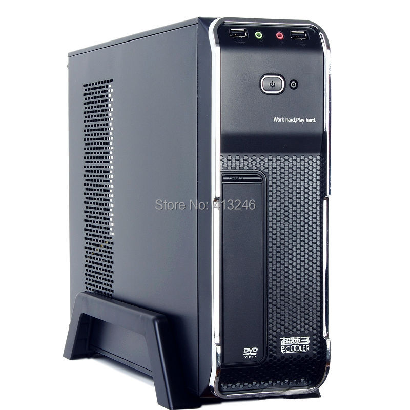 Mini ITX ATX chassis HTPC chassis mini chassis mini pc case desktop pc case(China (Mainland))