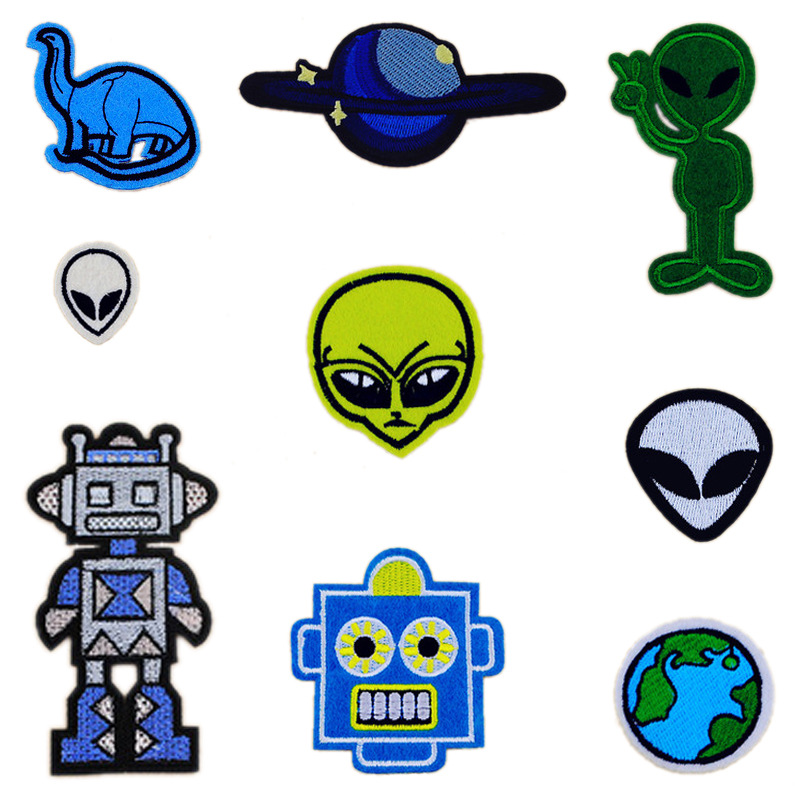 1 PCS Cartoon Extraterrestrial Stickers for Clothes Free Shipping Patches for Clothing Applications Parches Bordados Patch