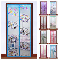 Mosquito net on screen door screen window curtain fly curtain screen mesh door insects mosquito curtain on magnet size:90*210cm