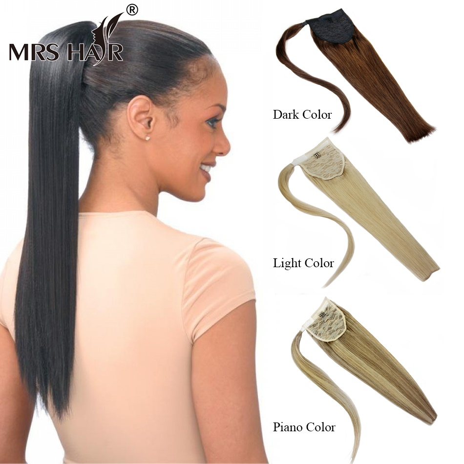 "Virgin Natural Human Hair Ponytail Extension 18"" 22"" Real Hair Hairpiece For Black Women Brazilian Hair Clip Ponytail 60g/set(China (Mainland))"