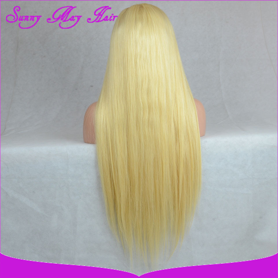 2014 Best Quality Brazilian Virgin Hair Full Lace Wig Blonde 613 Color Silk Straight Full Lace Human Hair Wigs In Stock(China (Mainland))