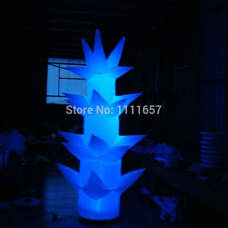 2016 Party decoration Led inflatable tree,Inflatable Cone(2m)Black Base(China (Mainland))
