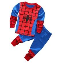 Buy girls boys clothes kids spiderman pajamas sets baby long sleeve pijamas boys car styling pyjamas children batman sleepwear for $3.50 in AliExpress store