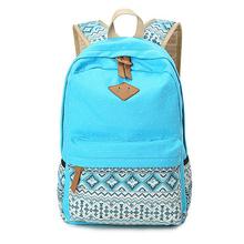 2015 Vintage Girl School Bags For Teenagers Cute Dot Printing Canvas Women Backpack Mochila Feminina Casual Bag School Backpack(China (Mainland))