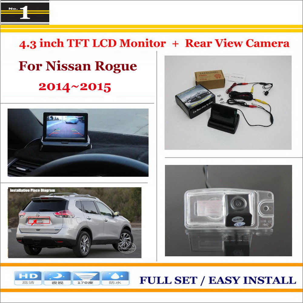"For Nissan Rogue 2014~2015 - Car Reverse Backup Rear Camera + 4.3"" TFT LCD Screen Monitor = 2 in 1 Rearview Parking System(China (Mainland))"