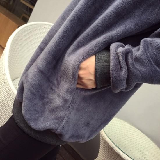 Девушки Спорт случайный футболка Минни мышь Кофты женщин сплошной серой Толстовки милые осенние полный рукав o-топы свитер шеи