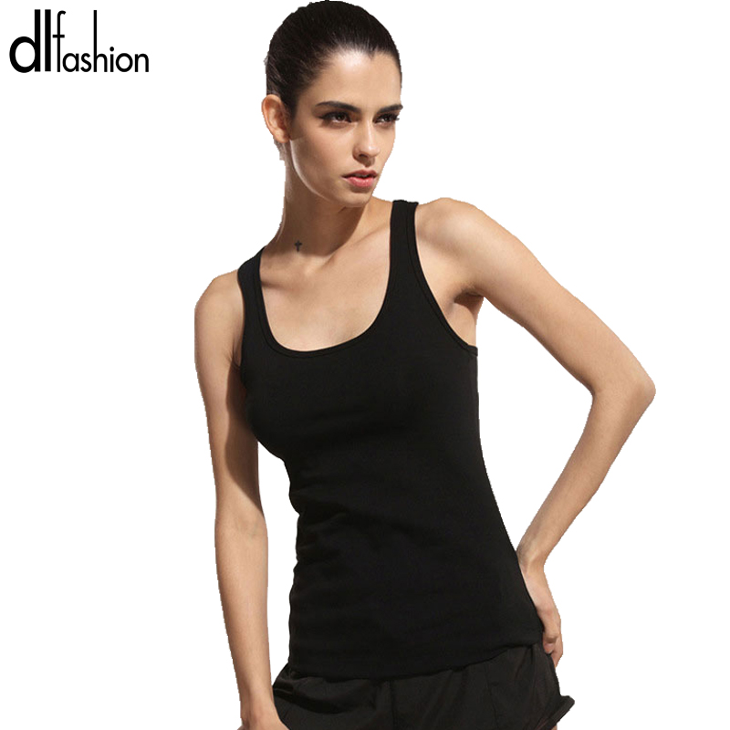 Sport style slim tank tops ladieswear 2016 summer style solid sexy fitness sports tanks hot sale fashion new sleeveless tops(China (Mainland))