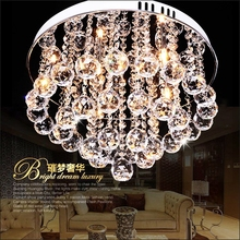 2015 Luxury LED Modern Luster Crystal Chandelier Lights Faixture For Foyer Bedroom Hotel Project Flush Mounted G4 Lamp(China (Mainland))