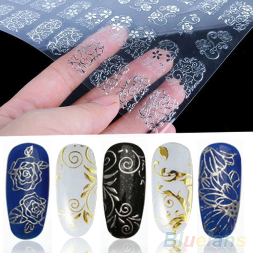 3D Beauty Flowers DIY Design Nail Art Decal Tips Stickers Sheet Manicure<br><br>Aliexpress