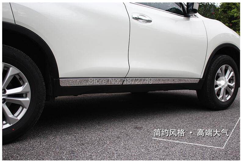 Fits Nissan Rogue Sport SUV 2014-2019 Chrome Body Side Molding Cover Trim Door Protector