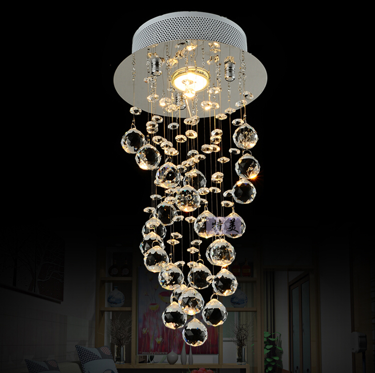 Modern luxury waterford spiral lustre crystal chandeliers led ceiling lamps s - Luminaire suspension ikea ...