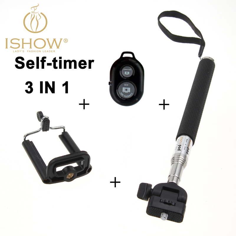Selfie Stick Clamp+Bluetooth Remote Shutter Self-timer Pau De bluetooth palo Monopod - I SHOW Ali Store NO. 59 store