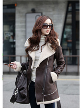 New suede coat thick winter coat(China (Mainland))