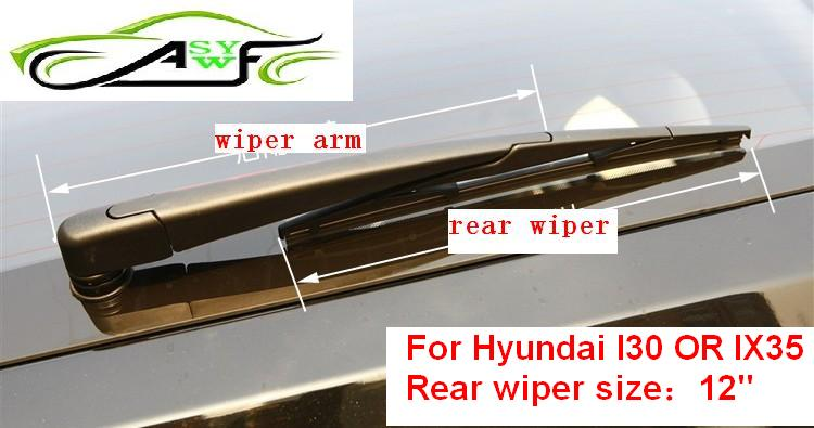 "Free Shipping Car rear wiper blades For Hyundai I30 OR IX35 Soft Rubber WindShield Wiper Blade Size 12"" 305mm(China (Mainland))"