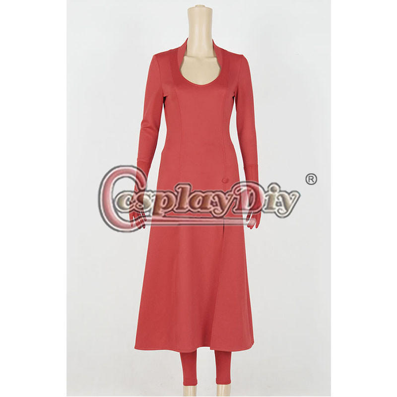 Marvel Avengers Scarlet Witch Cosplay Costume Adult Women Halloween Red Dress Custom Made D0812
