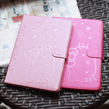 Cute Hello Kitty Stand Magnetic Smart Tablet Case Cover For Apple iPad Mini 1 Mini 2 Mini 3 Case Cover Girl Kids Gift Protector(China (Mainland))