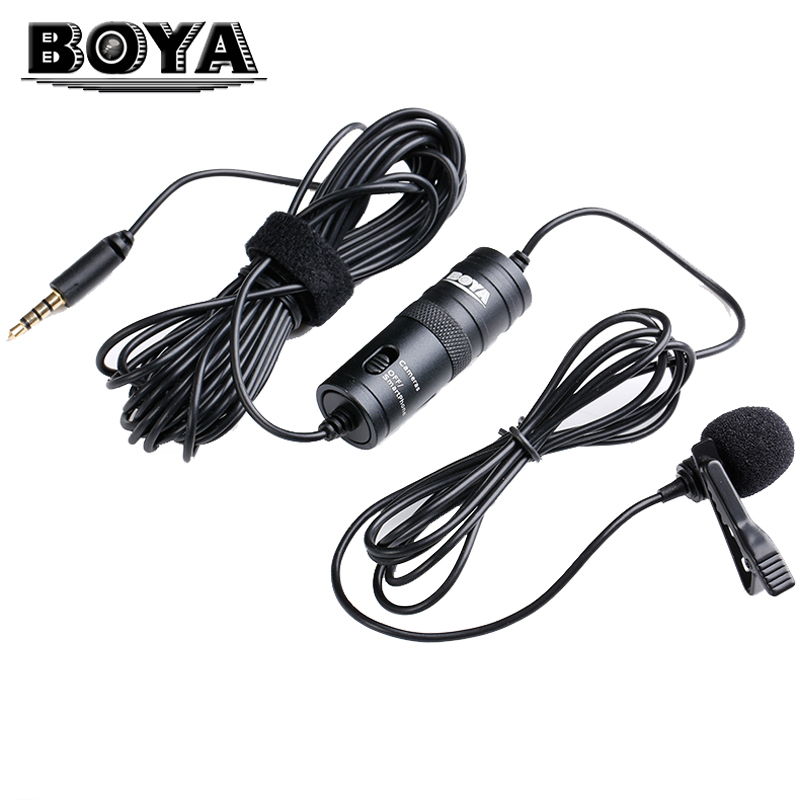 BOYA Professional Lavalier Condenser Microphone for CCTV Canon Nikon Sony iPhone Video Recording DSLR Camcorders Audio Recorders(China (Mainland))