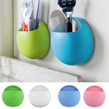 Toothbrush Holder Bathroom Kitchen Family Toothbrush Suction Cups Holder Wall Stand Hook Cups Organizer Wholesale(China (Mainland))