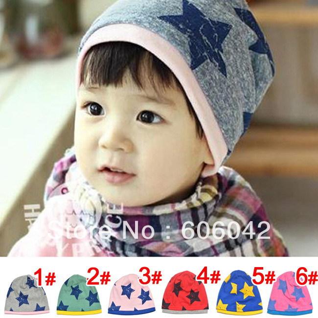 MOQ 1pcs BOY Hat CAPS baby toddler Skullies & Beanies autumn and winter hat five star  Beanie Infant hat  children baby hat(China (Mainland))