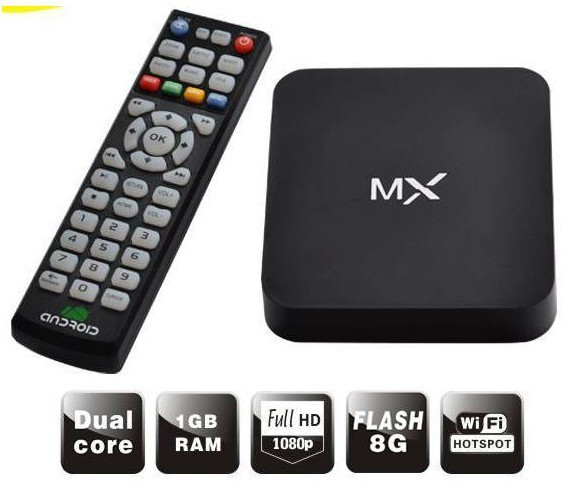 Original MX TV BOX XBMC preinstalled Android 4.4.2 TV set top Google Amlogic 8726 Cortex A9 Dual core 1.5GHz 1GB/ 8GB Player(China (Mainland))