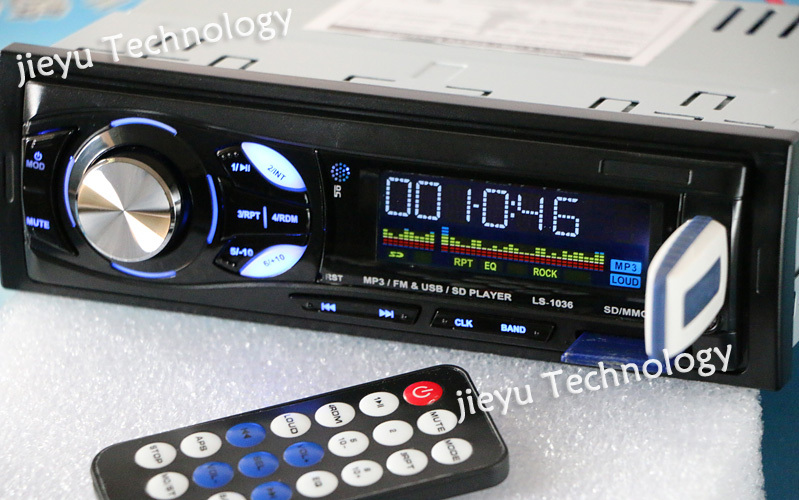 12V blue ray in dash Car Radio MP3 Audio player with Electronic tuning stereo FM radio USB SD MMC Slot Support MP3/WAM format(China (Mainland))