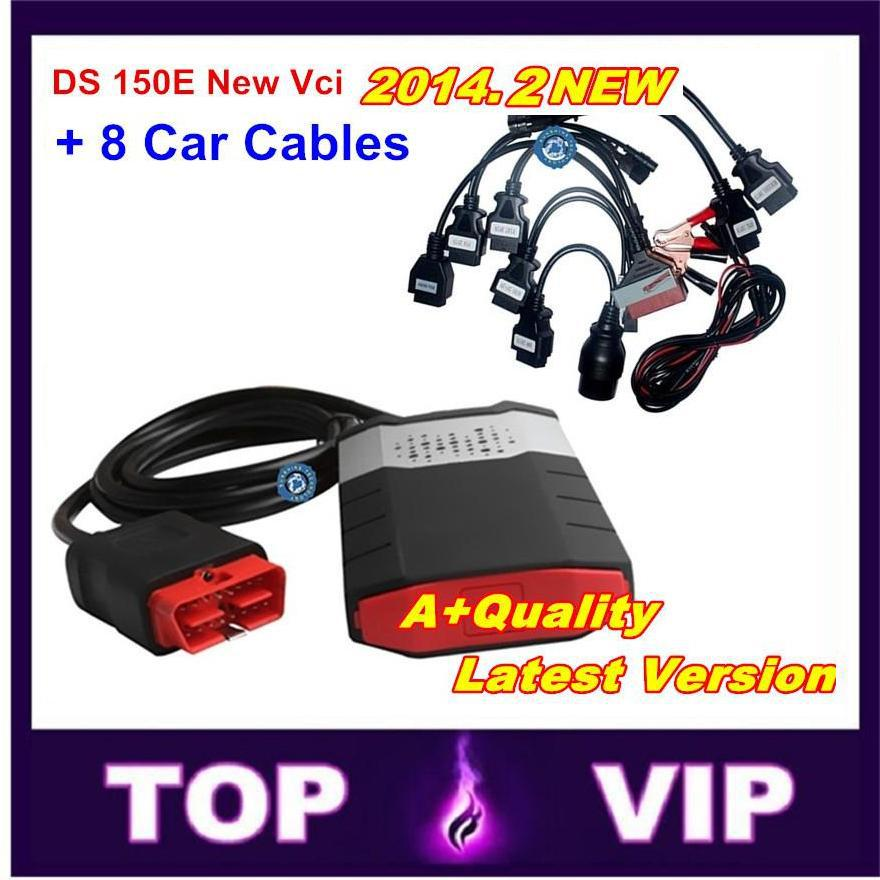 As a gift !2014 .2 software+ keygen New TCS CDP pro With ds150e DS150 VCI PRO for cars +trucks 3 in1 with 8 car cables free ship(China (Mainland))