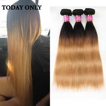 Buy Ombre Peruvian Virgin Hair Straight 1b/27 Peruvian Straight Virgin Hair 3 Bundles 1b 27 Ombre Human Hair Bundles Straight Hair for $89.21 in AliExpress store