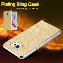 For Samsung Galaxy S6 Case Luxury Bling Back Cover Shining Edge Ultra Slim Phone Cases for Galaxy S6 SM-G920 Protective Shell(China (Mainland))