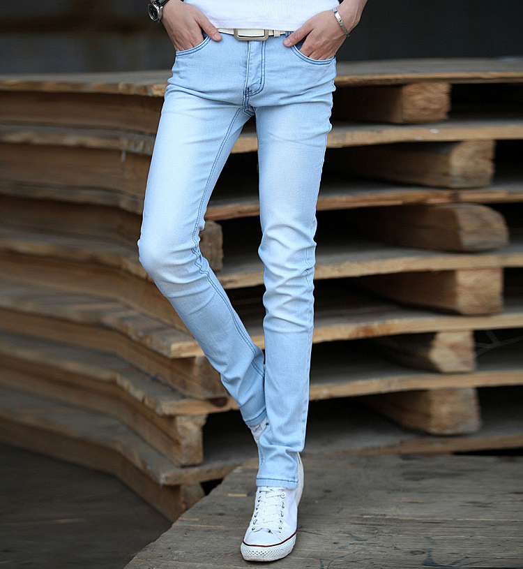 Light Denim Skinny Jeans Men | Jeans To