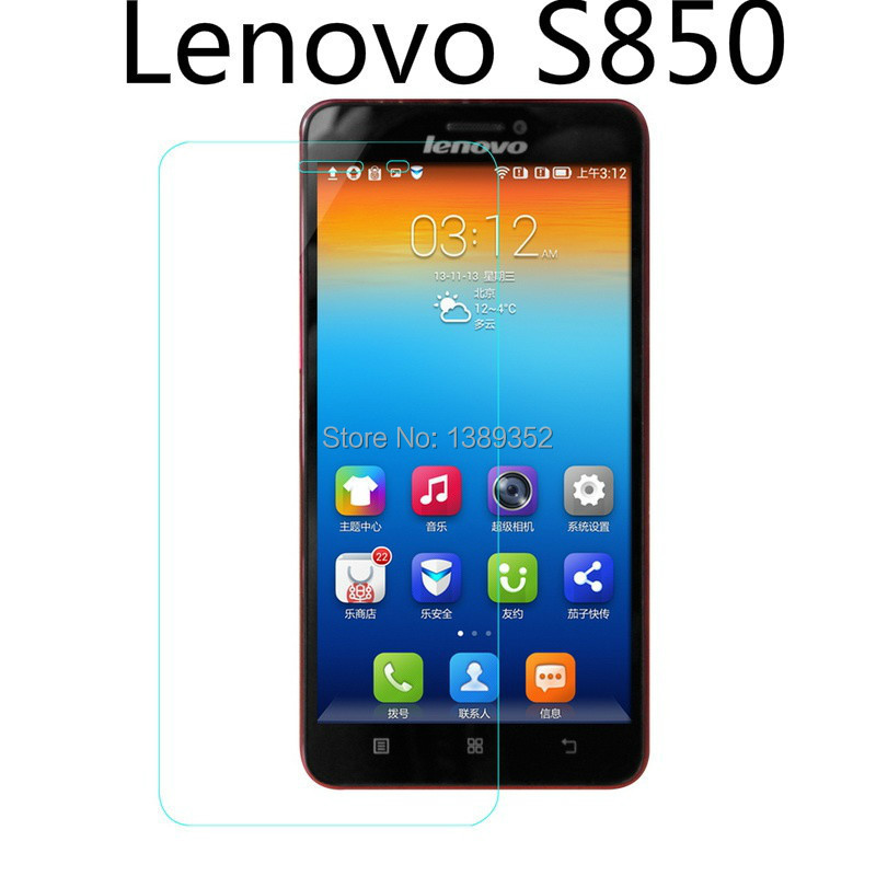 Sale free shipping New High Quality Premium Tempered Glass Film Screen Protector For Lenovo S850(China (Mainland))