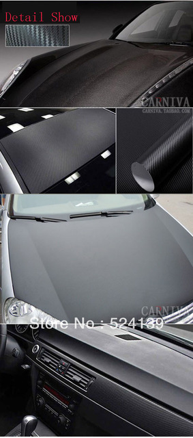 Hot! High quality 30 CM x 127CM 12 colors 3D Carbon Fiber film Vinyl Car Sticker Carbon fiber sheet Free shipping