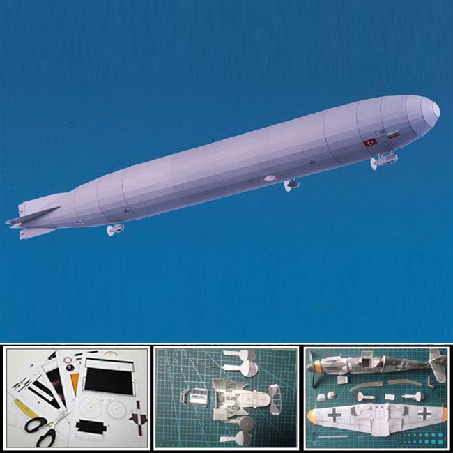 New 2016 Paper Model airplane German airship L 59 Long 56.5cm/ 1:400 sacle 3d puzzles handmade parpercraft creative gift toy(China (Mainland))