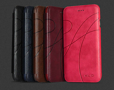 original KLD Luxury Yu II Business Retro Flip Wallet Cover Leather Case iPhone 6 4.7 inch iphone6 4.7inch + Film - SZ-TOP Store store
