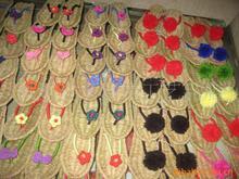 Supply handmade sandals slippers hemp shoes bow sandals crochet sandals